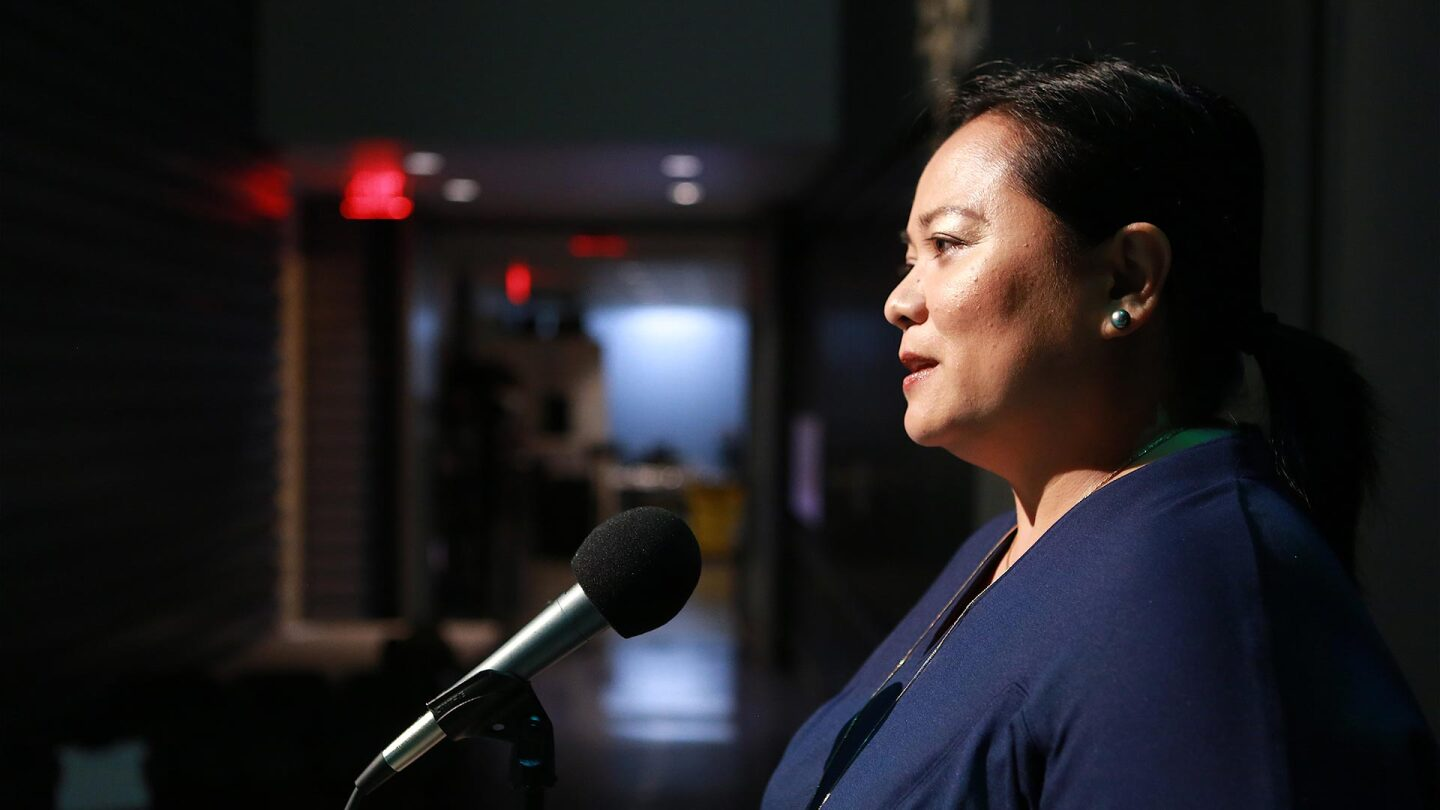 """Grace Talusan talks about how a green station wagon helped her family become Americans on """"Stories from the Stage: Suitcase Stories (Part 1)."""""""