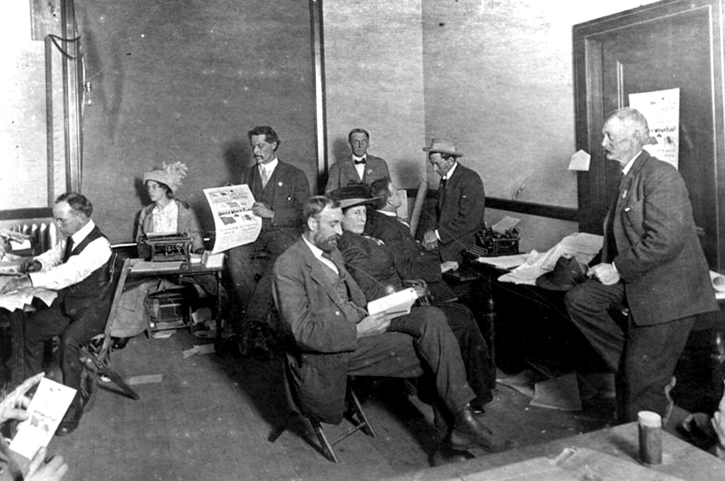 Los Angeles Socialist Party offices, 1911