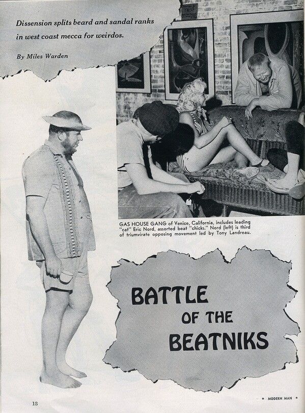''Battle of the Beatniks'' from Modern Man magazine, 1960
