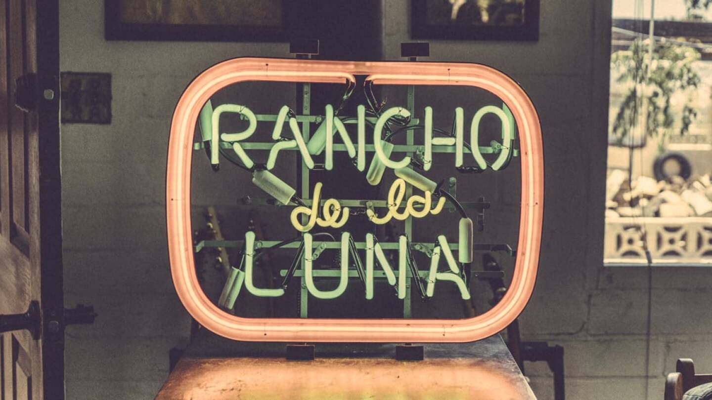 Rancho de la Luna neon sign   Kim Stringfellow
