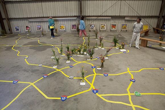 "Fritz Haeg, ""Wildflowering L.A.,"" 2013-2014.  A LAND (Los Angeles Nomadic Division) Exhibition. Image courtesy of Isabel Avila"