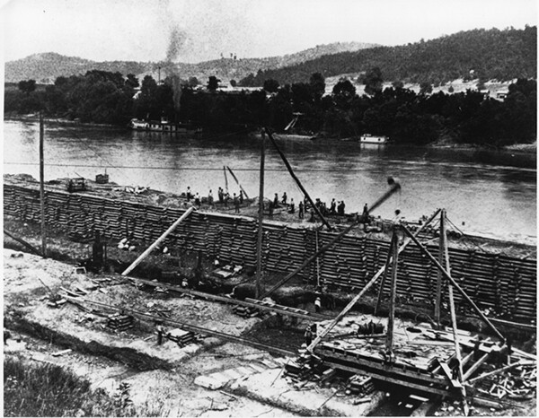 Mississippi River Improvement in 1890. Image by the U.S. Army.