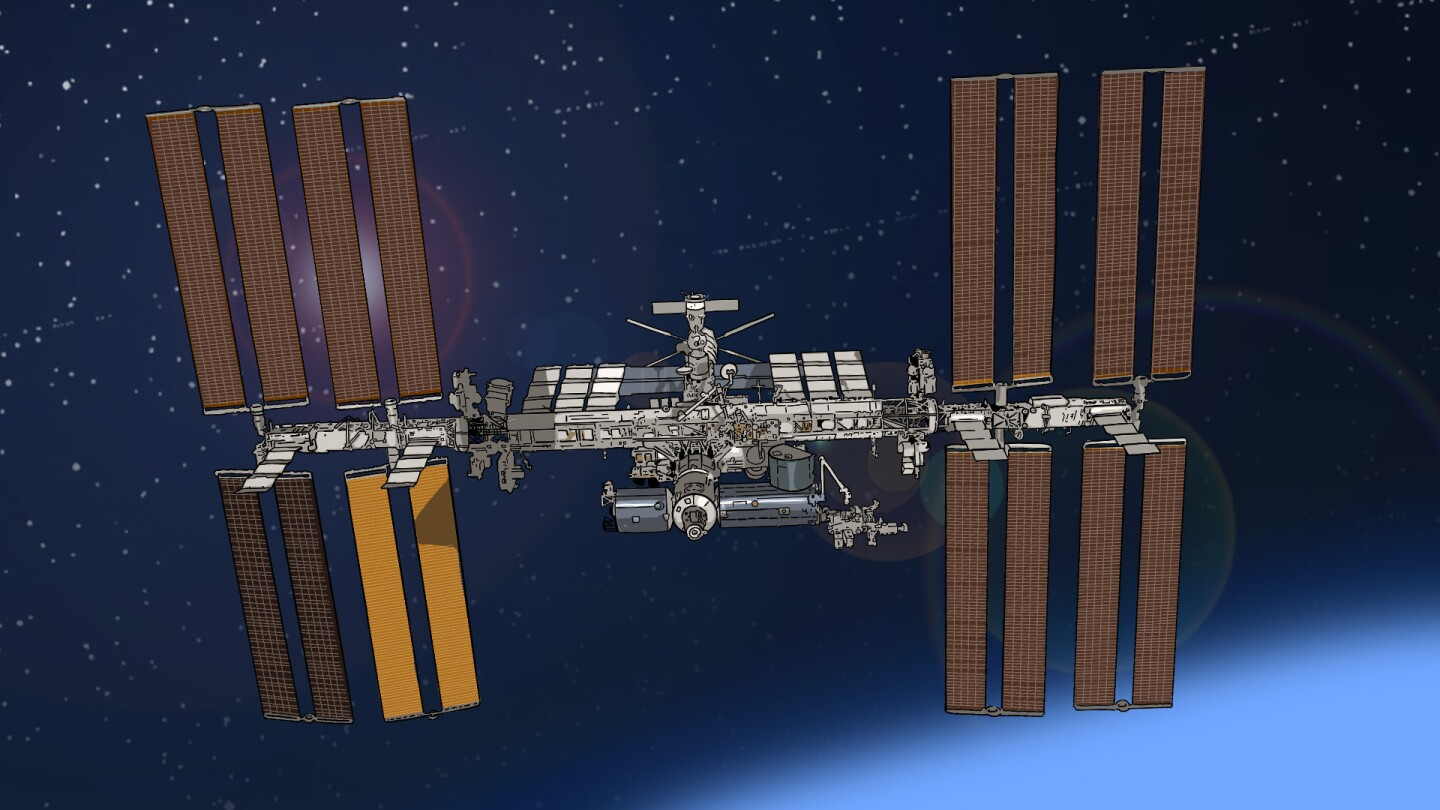 Blue Sky Metropolis timeline featured image - the International Space Station illustration | Henry Cram