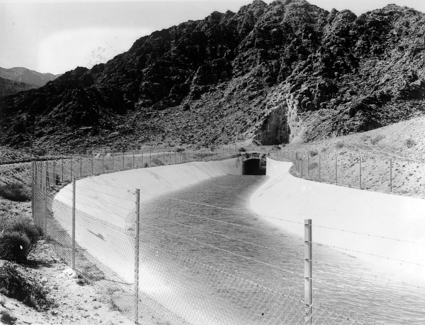 View of a tunnel on the Colorado River Aqueduct, October 16, 1942