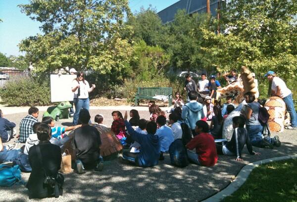 Kari and students at Marsh Park | Photo by Eloisa Martinez