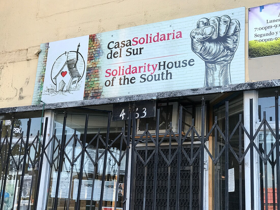 Casa Solidaria del Sur on Central Avenue, a safe space for POC. | Jonathan P. Bell