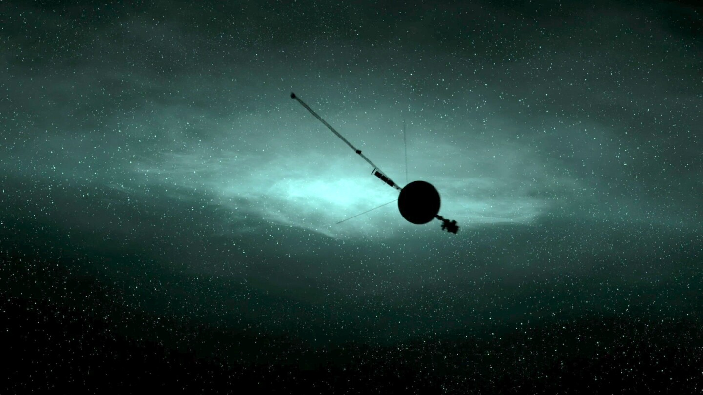 """The Voyager 1 in space. 
