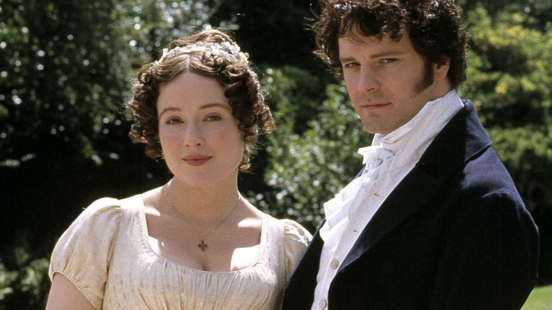 Pride and Prejudice stars Jennifer Ehle and Colin Firth.
