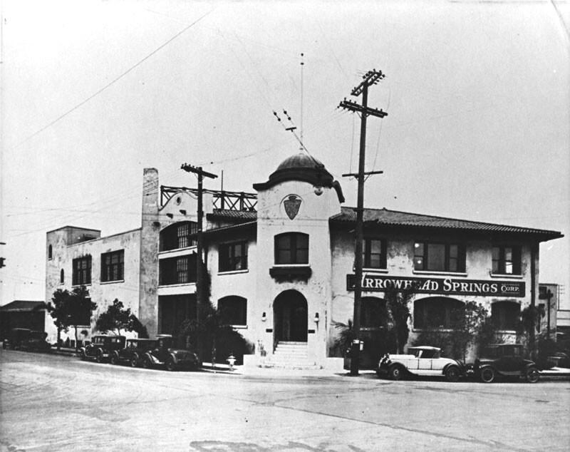 Arrowhead Springs Corp. building, circa 1933