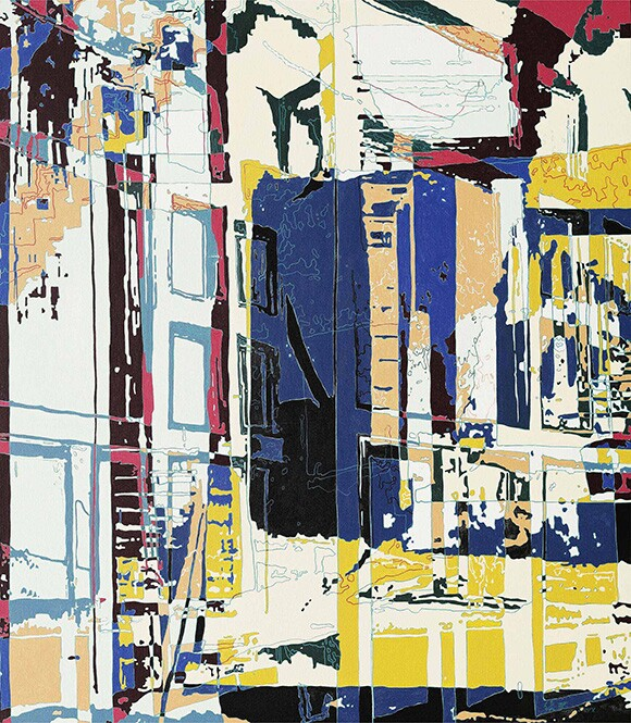 """Vanishing - Door"" by Xi Hou, 2008, acrylic on canvas; 170x150cm; Courtesy of the artist"