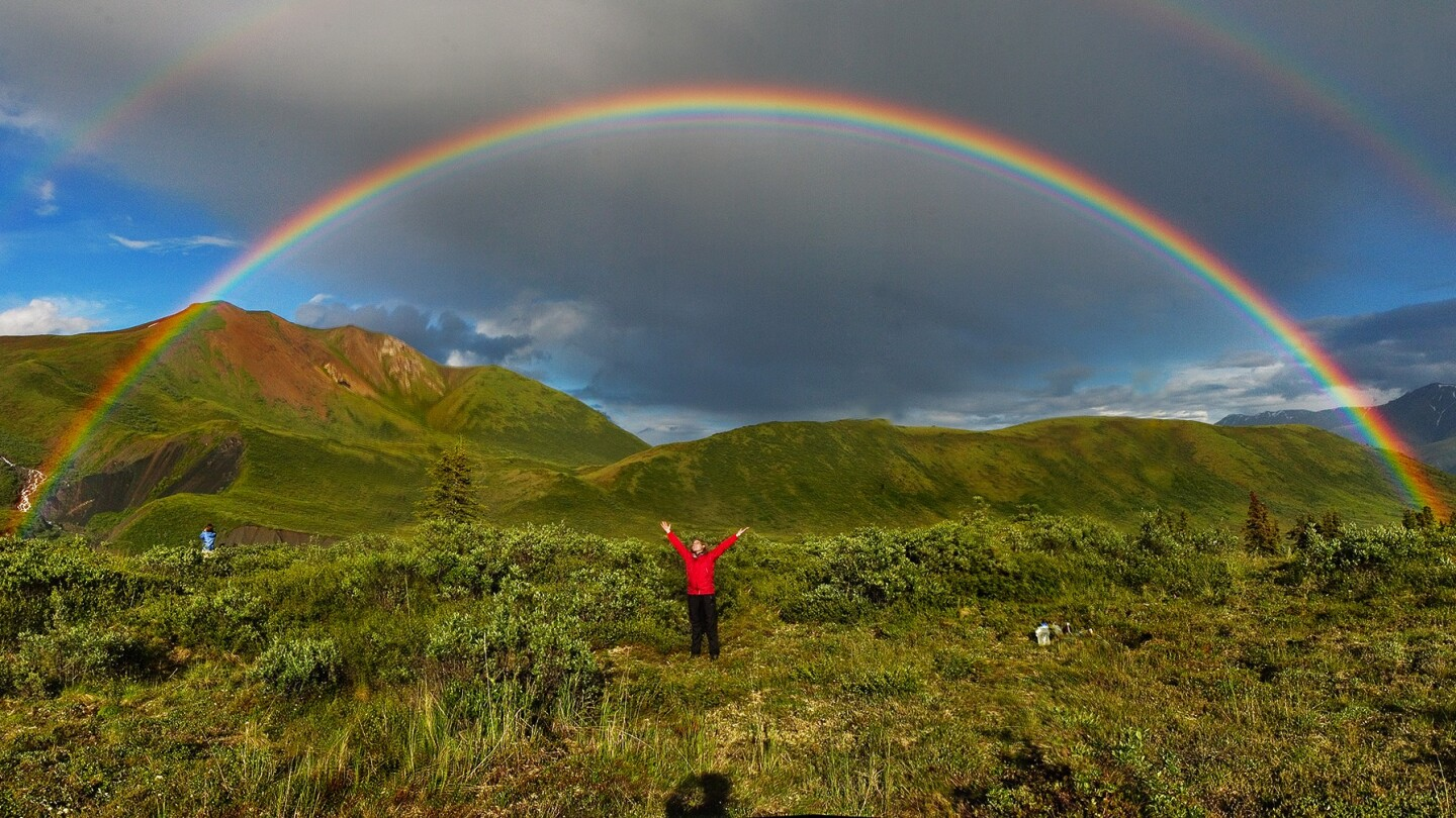 Double rainbow in Wrangell-St. Elias National Park, Alaska