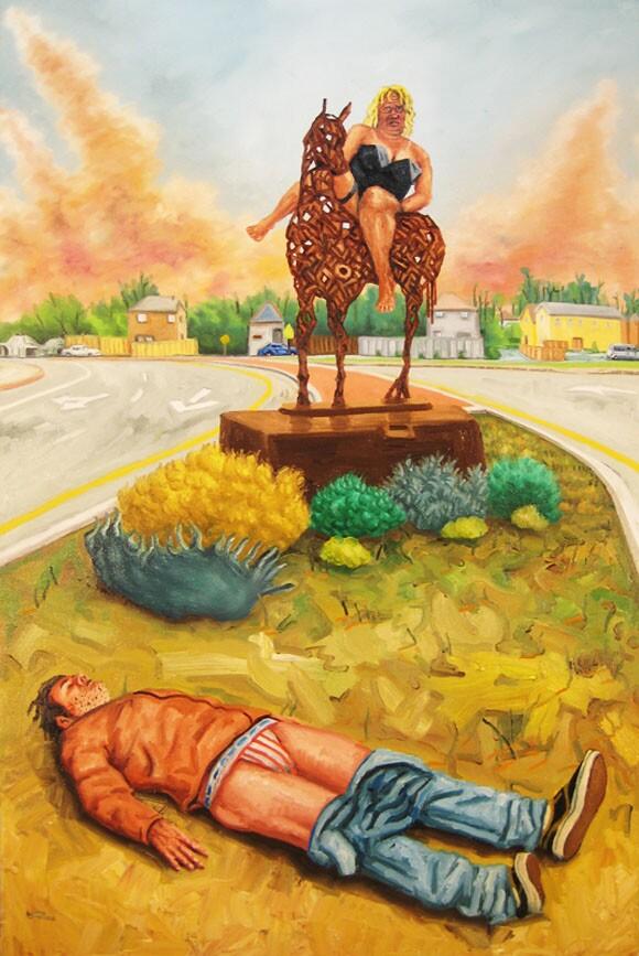 <em>Lords of Myrtletowne</em>. Oil on canvas, 2011.