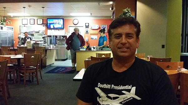 Gabe Lopez, son of a WWII pilot and aviation enthusiast, hopes the renamed airport will reach a wider audience. | Photo by Apolonio Morales.