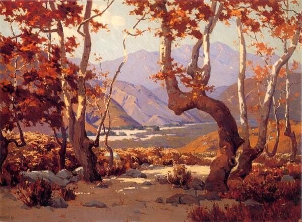 ''Golden Autumn, Cajon Pass'' Elmer Wachtel
