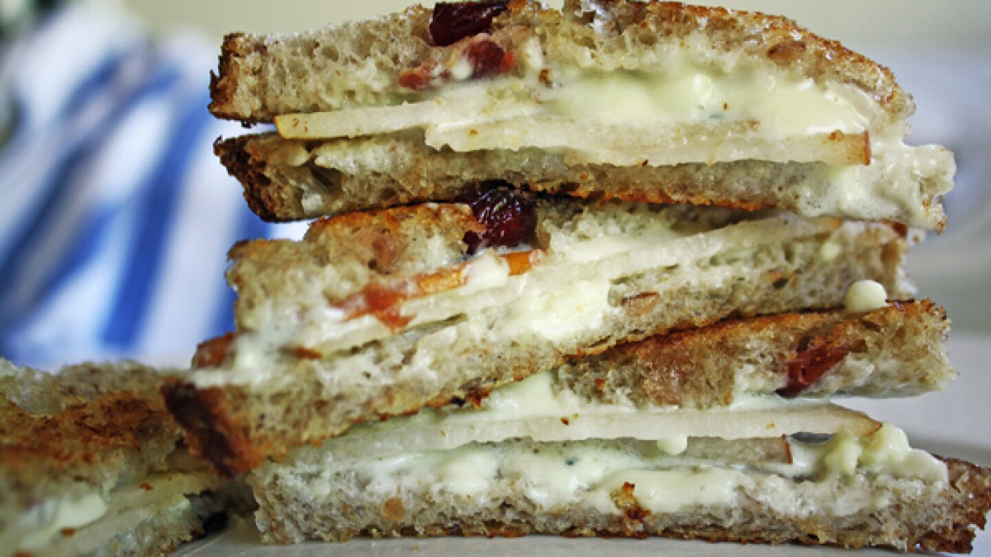 Fancy grilled cheese finger sandwiches