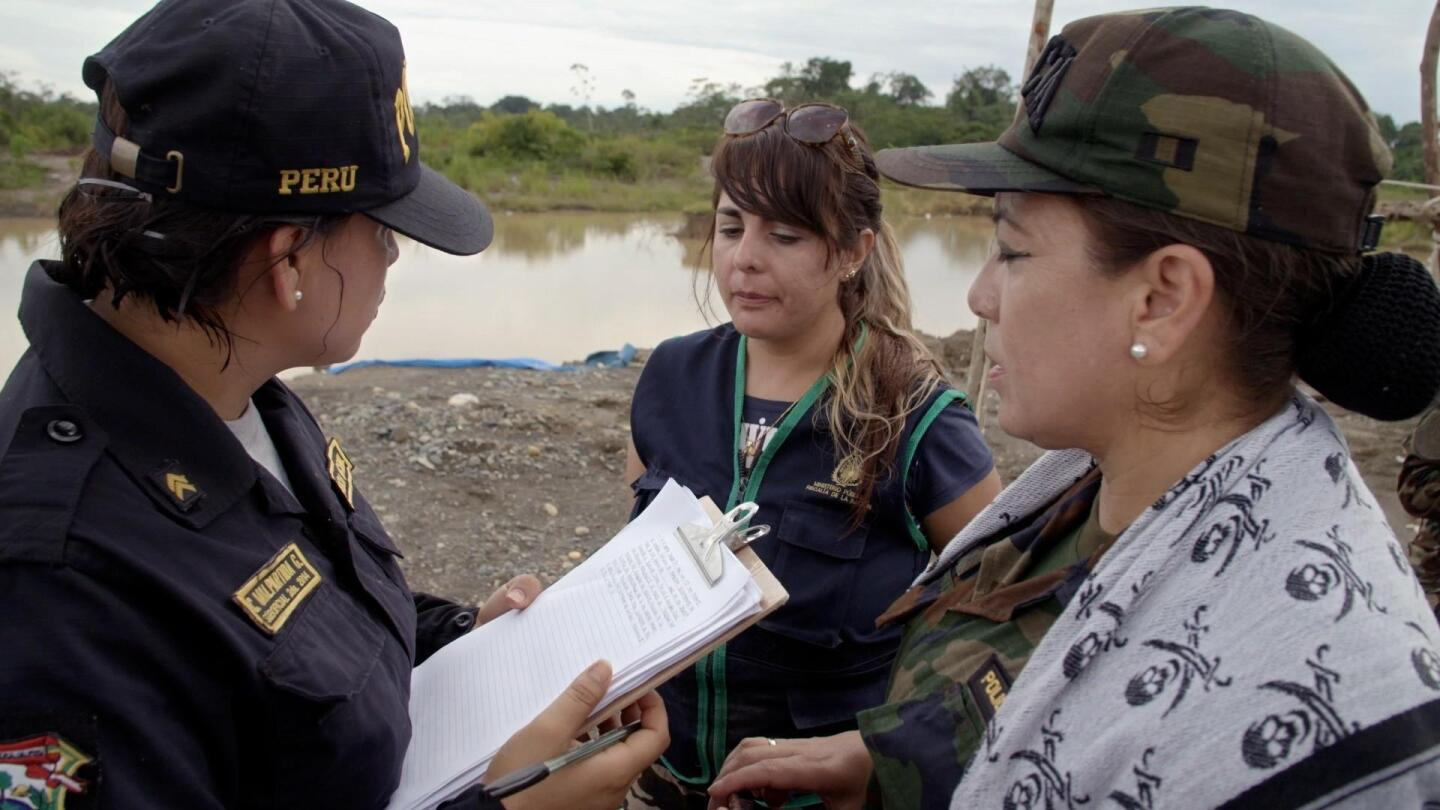 "Still from ""Earth Focus"" video ""On the Scene of Operation to Shut Down Illegal Gold Mining"""