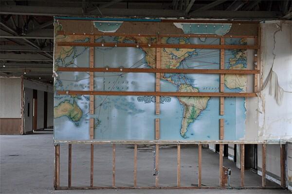 Flight Route Map, Former Hughes Aircraft Company Administrative Building.  Photo by Elleni Sclavenitis.