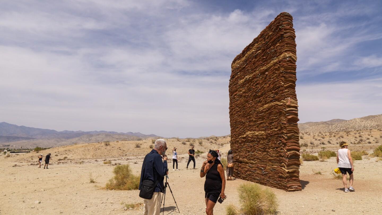 "Zahrah Alghamdi's installation ""What Lies Behind the Walls"" for Desert X 2021 stands in Desert Hot Springs."