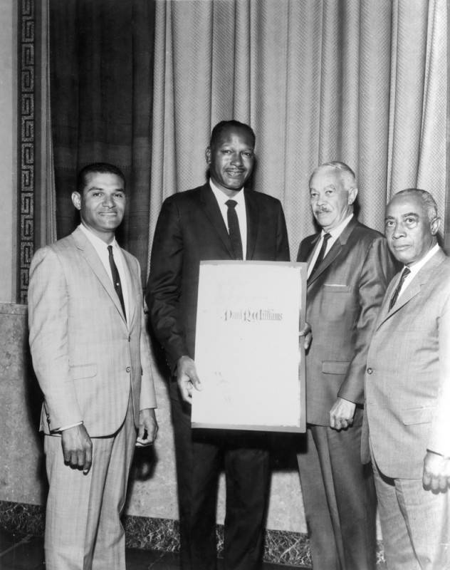 City of Los Angeles resolution honoring Paul R. Williams | Los Angeles Herald Examiner Photo Collection, Los Angeles Public Library