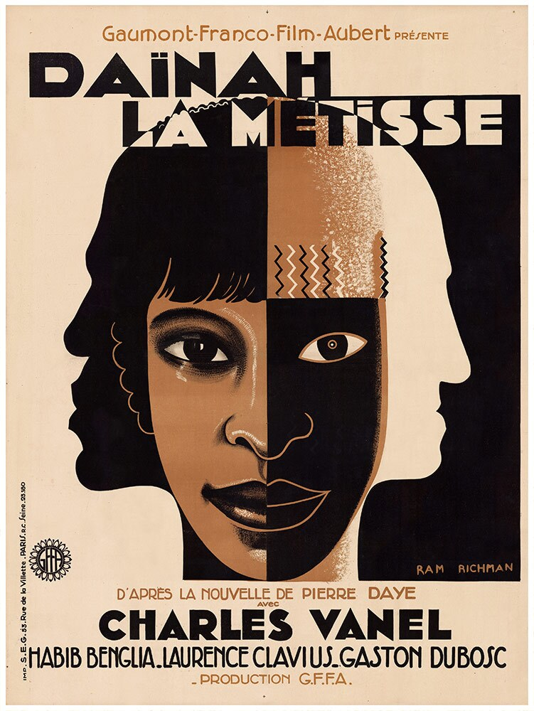 "Film poster for ""Daïnah la métisse"" 