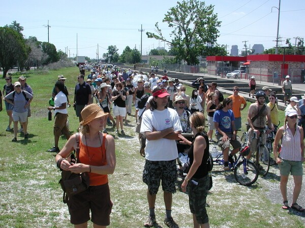 Lafitte Corridor hikers from 5th annual hike in 2009 | Photo by Bart Everson