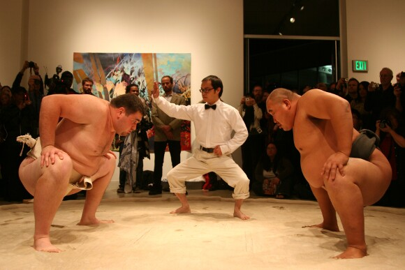 Sumo Wrestler meets Art Gallery | Photo: Marshall Astor.