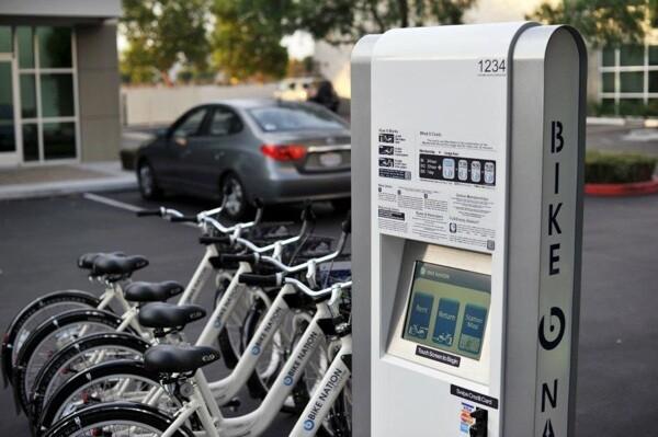 A Bike Nation bicycle sharing kiosk.   Photo: Courtesy Bike Nation