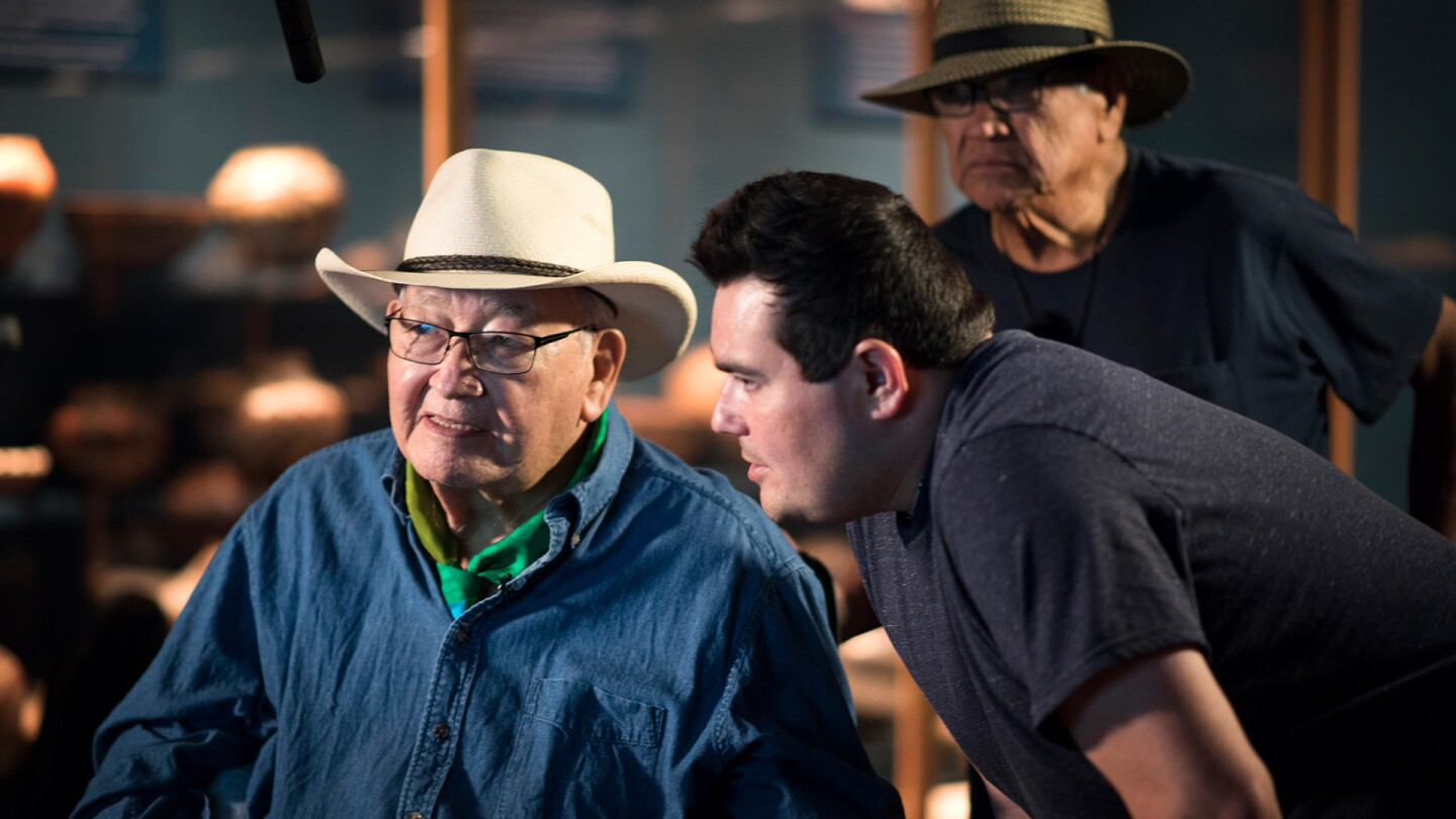 Scott Momaday, Gus Palmer, and Director/Producer Jeffrey Palmer