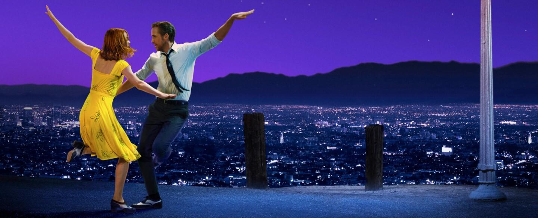 "Emma Stone and Ryan Gosling star in ""La La Land."""