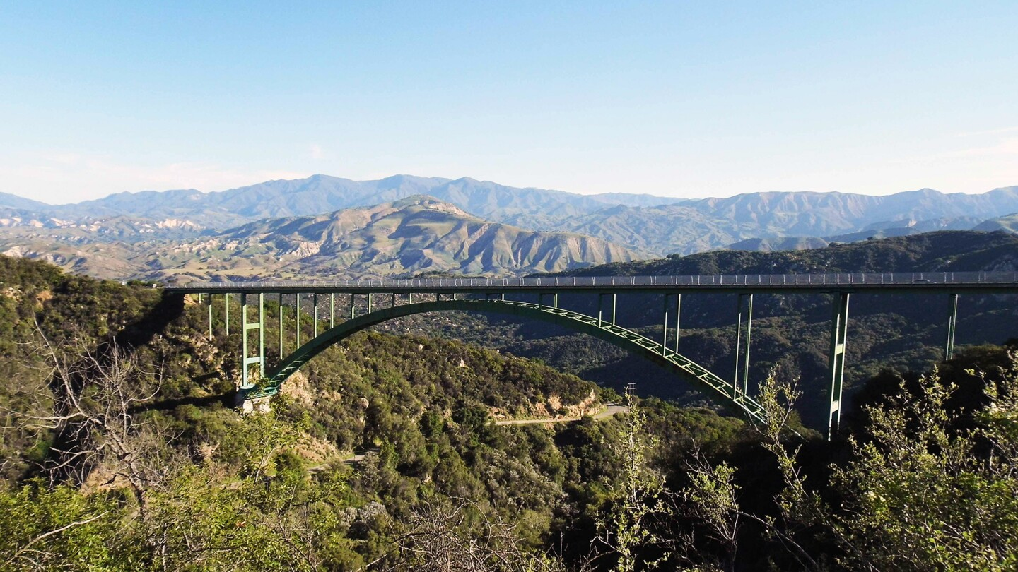View of the Cold Spring Canyon Arch Bridge
