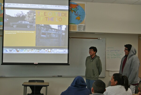 Rudy and Ivan discuss their project