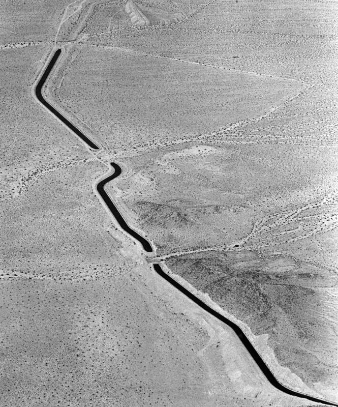 Aerial view of the Colorado River Aqueduct, 1988