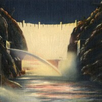 Boulder Dam at night