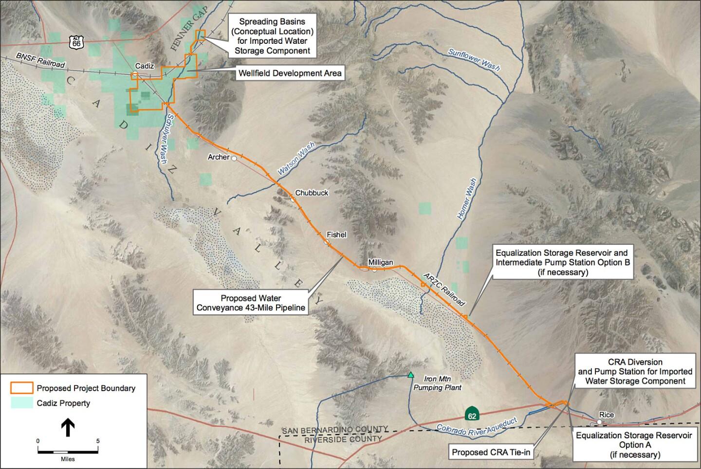 Cadiz Water Project Map