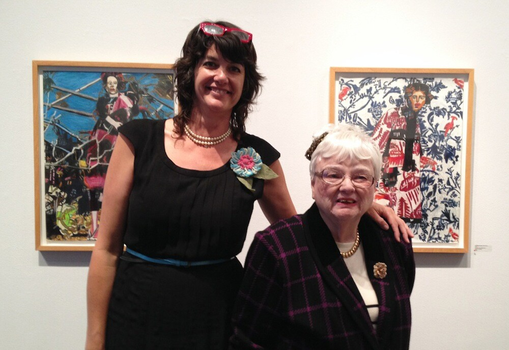 Paige Wery and Helen Rae at The Good Luck Gallery in 2015