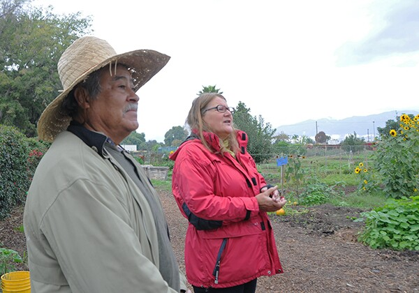 Mr. Angel Abarca and Ms. Marianne Zaugg welcomed us to the Farm.