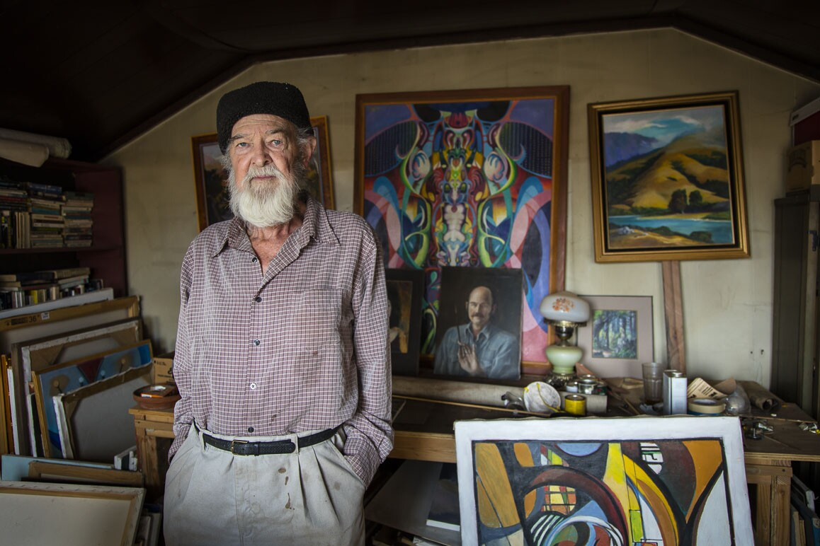 Artist John Hamilton  is a resident of Darwin, California