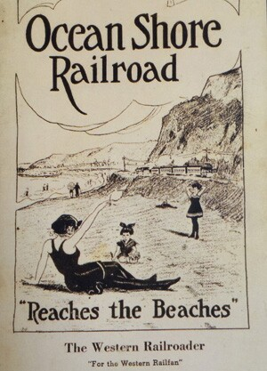 pamphlet for ocean shore rail