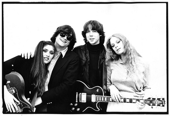 Mark Abel, second from right, poses with the other members of Chriscraft in New York City in 1978.   Courtesy of Mark Abel