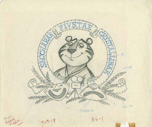Drawing by Mike Lah, used in the layout process of a Tony the Tiger ad, c. 1960s. | Courtesy of Animation Resources