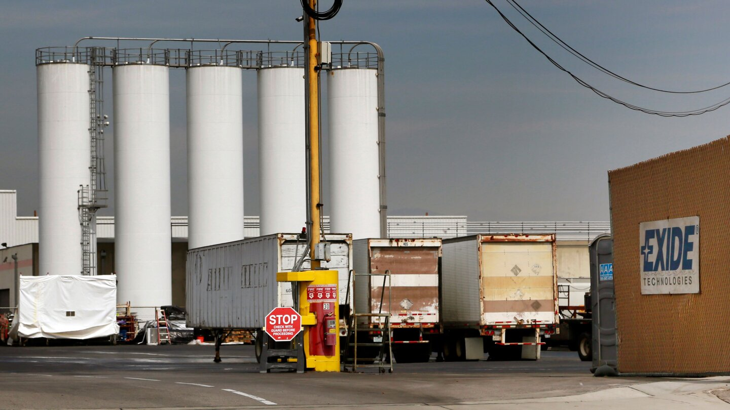 Site of the Exide battery recycling plant in Vernon, in southeast Los Angeles. photo Nick Ut/AP
