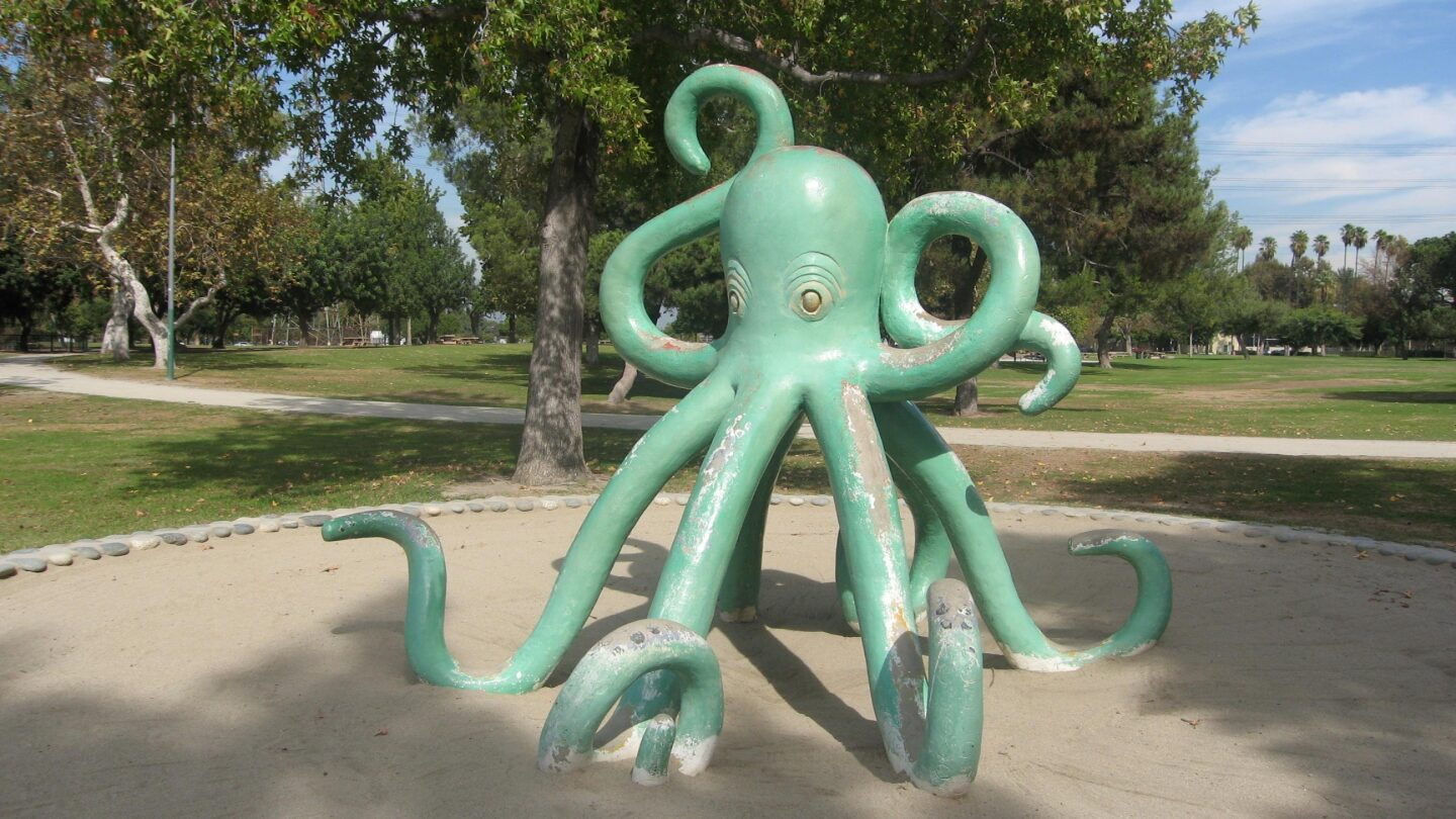 Whittier Narrows Play Sculptures   photo L.A. Co. Dept. of Parks & Recreation