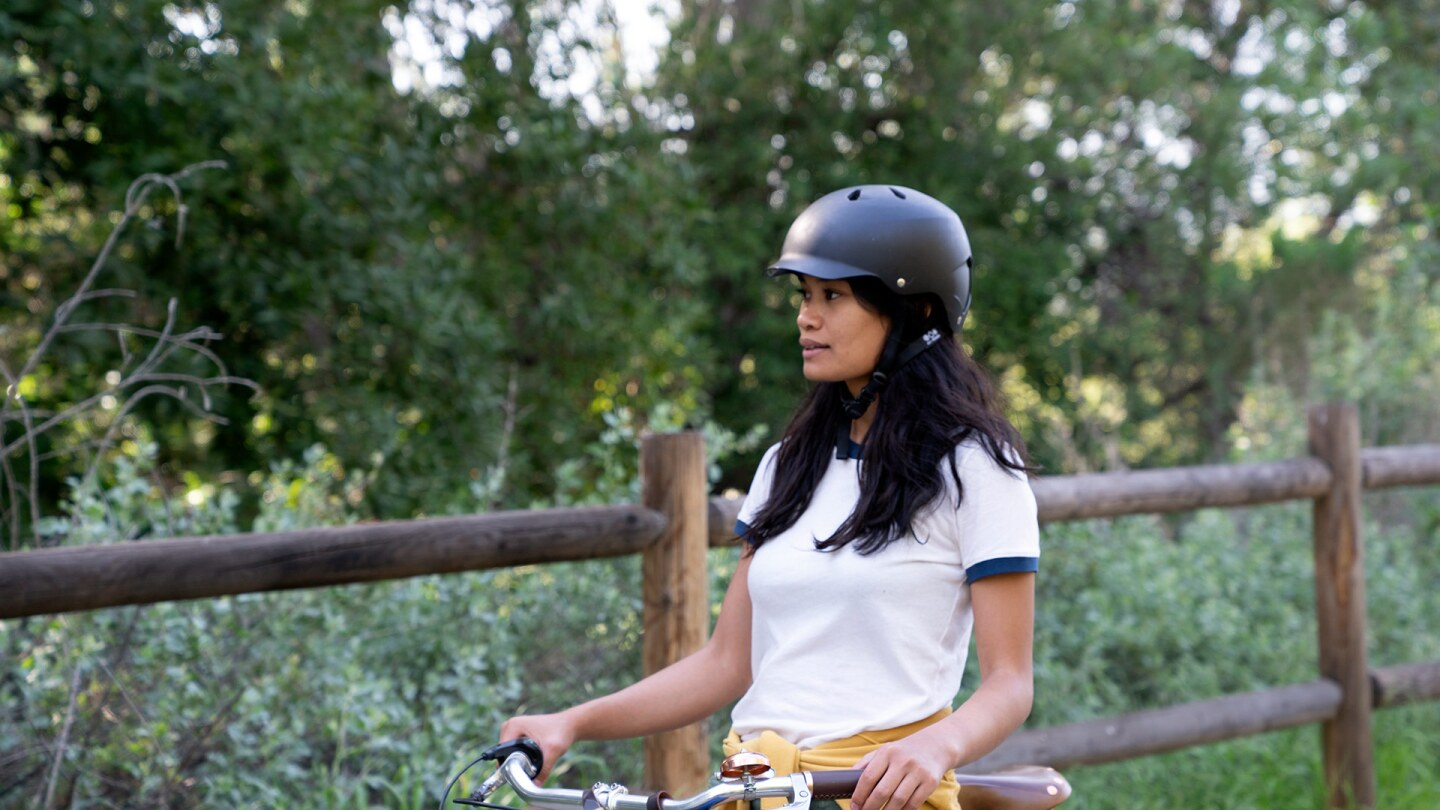 Rosey Alvero with Bicycle on the Ojai Valley Trail