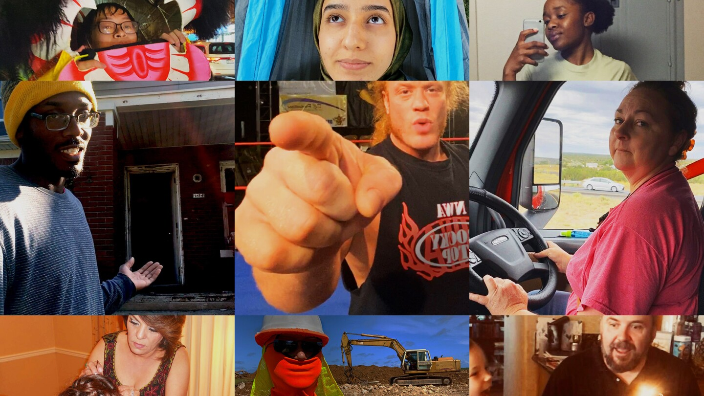 """A collage of people featured in """"PBS American Portrait: I Dream."""""""