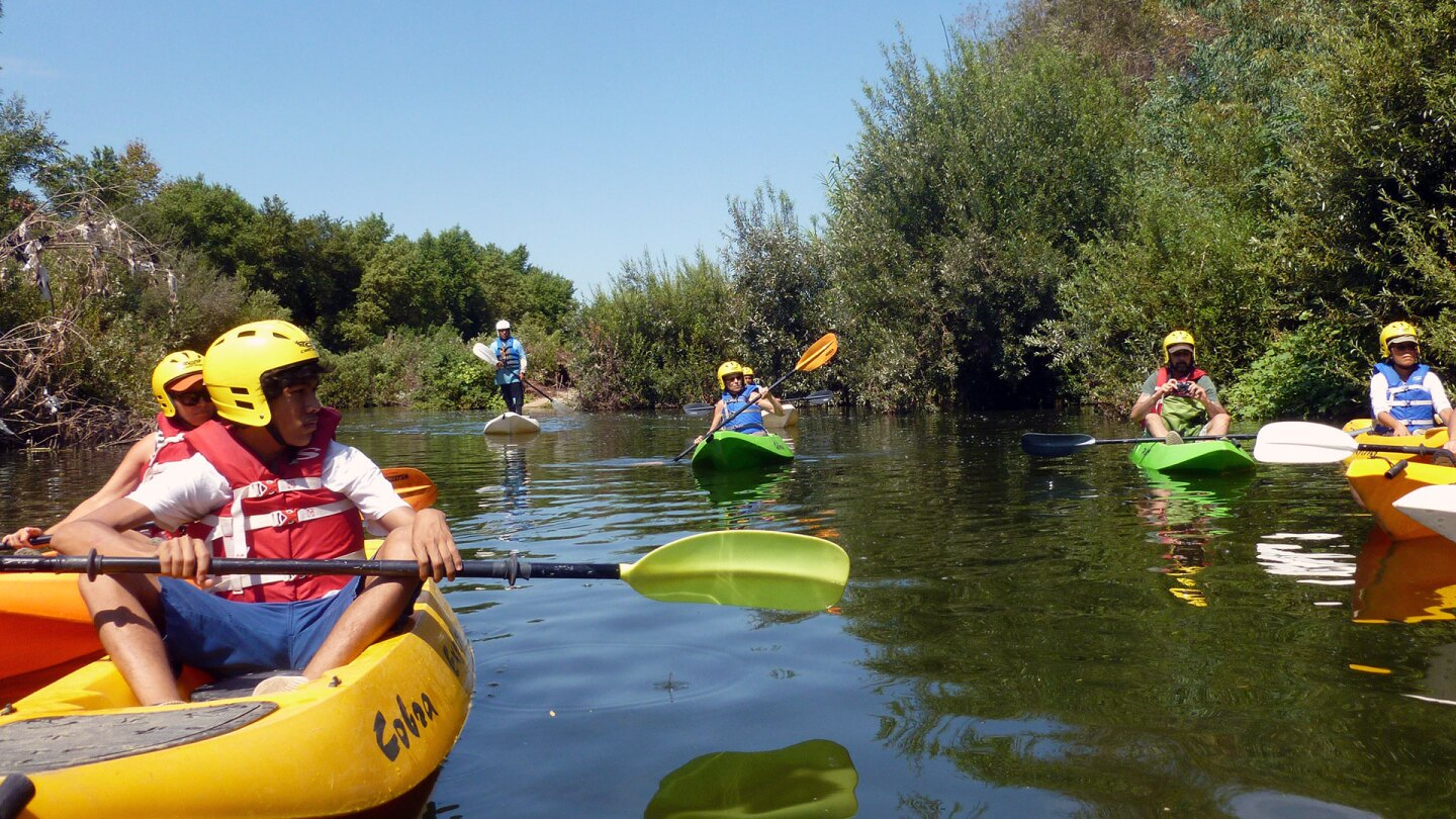 L.A. River Expeditions launches kayaks for its tours along the Sepulveda Basin Recreation Area. | Sandi Hemmerlein