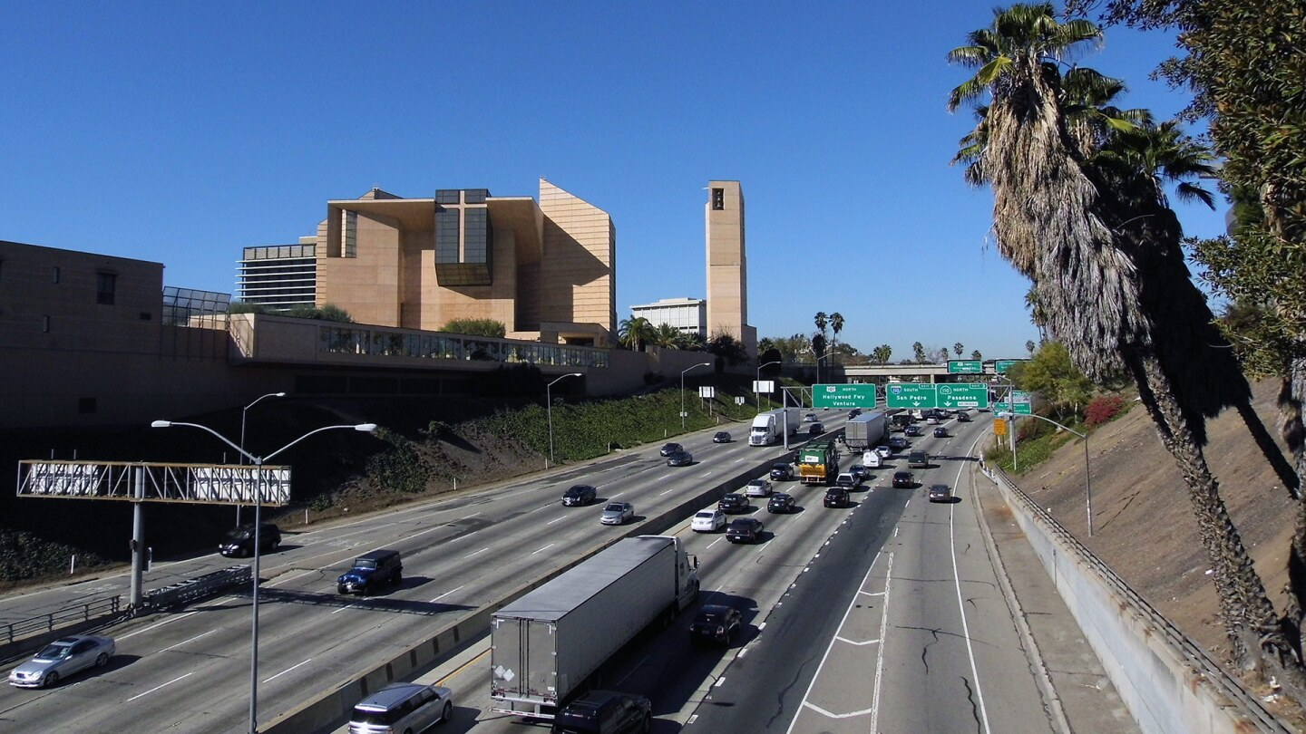 A freeway view of the Cathedral of our Lady of the Angels | Sandi Hemmerlein
