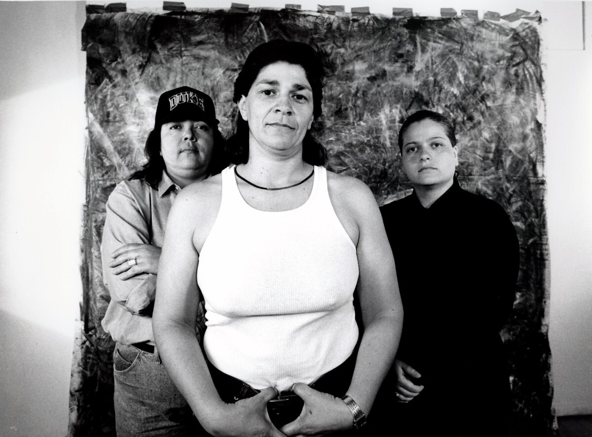 Laura Aguilar, Plush Pony #2 , 1992, Gelatin silver print |Courtesy of the artist and the UCLA Chicano Studies Research Center. © Laura Aguilar PST LALA