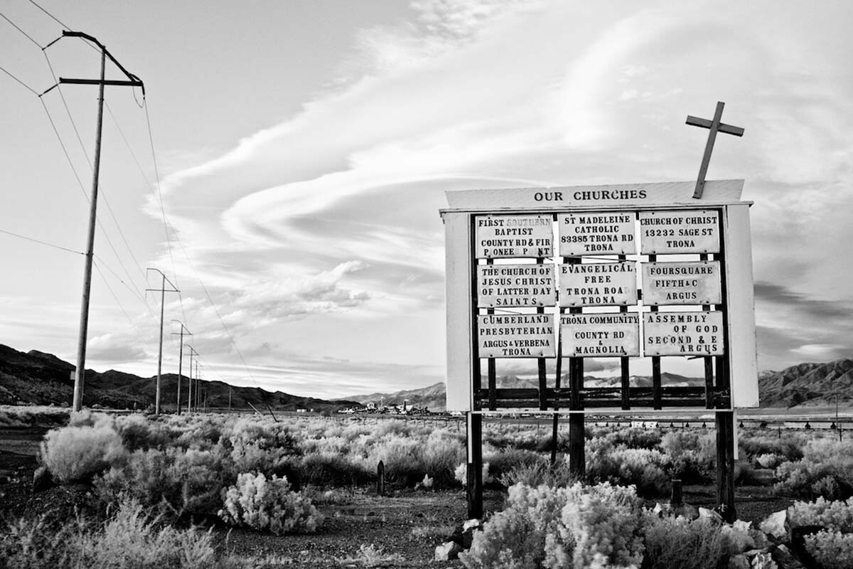 Our Churches (Sierra Wave) - Infrared Exposure - Trona, CA - 2011 | Osceola Refetoff