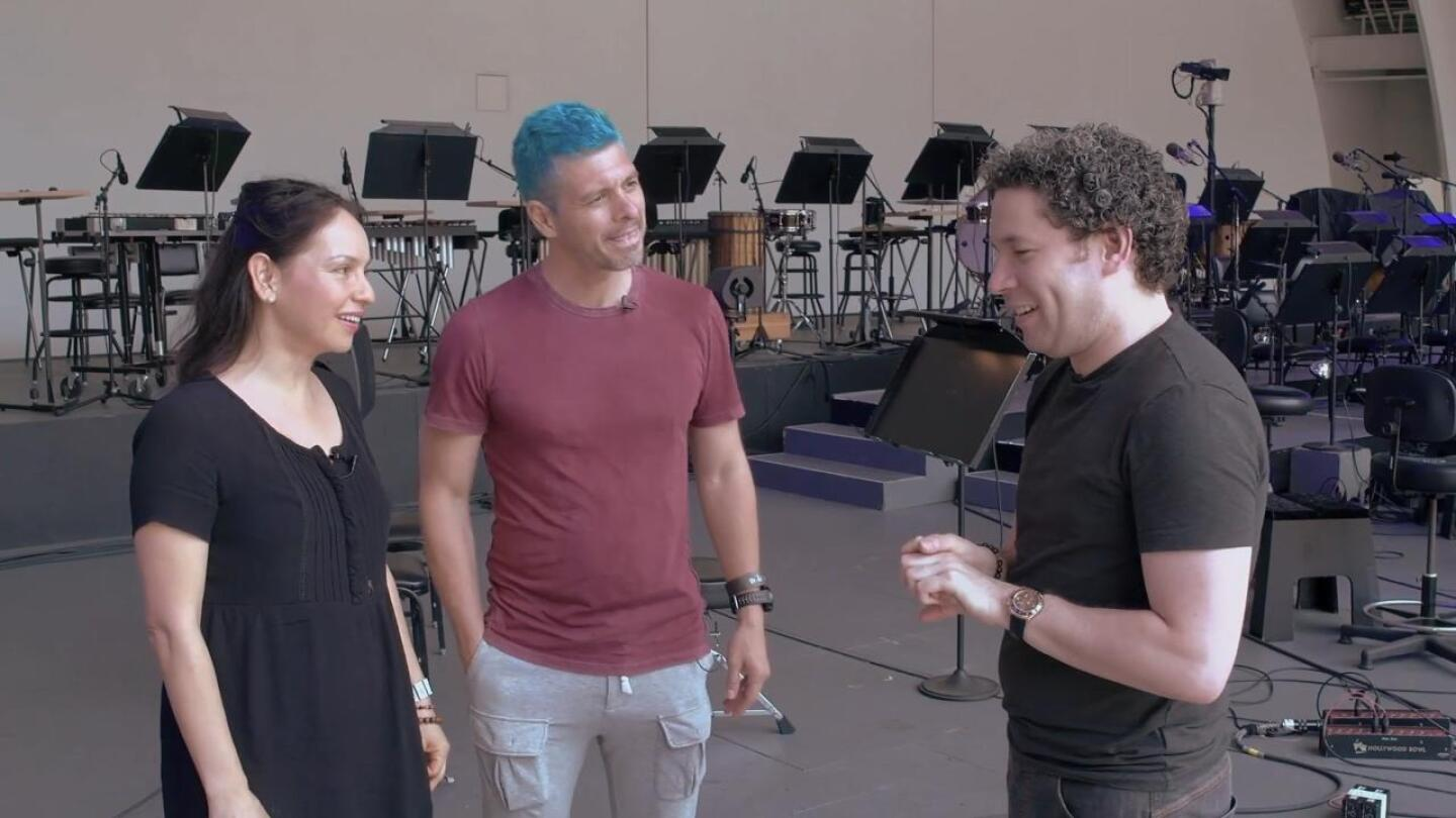 "Rodrigo y Gabriela and Gustavo Dudamel in conversation | Still from ""In Concert at the Hollywood Bowl"""