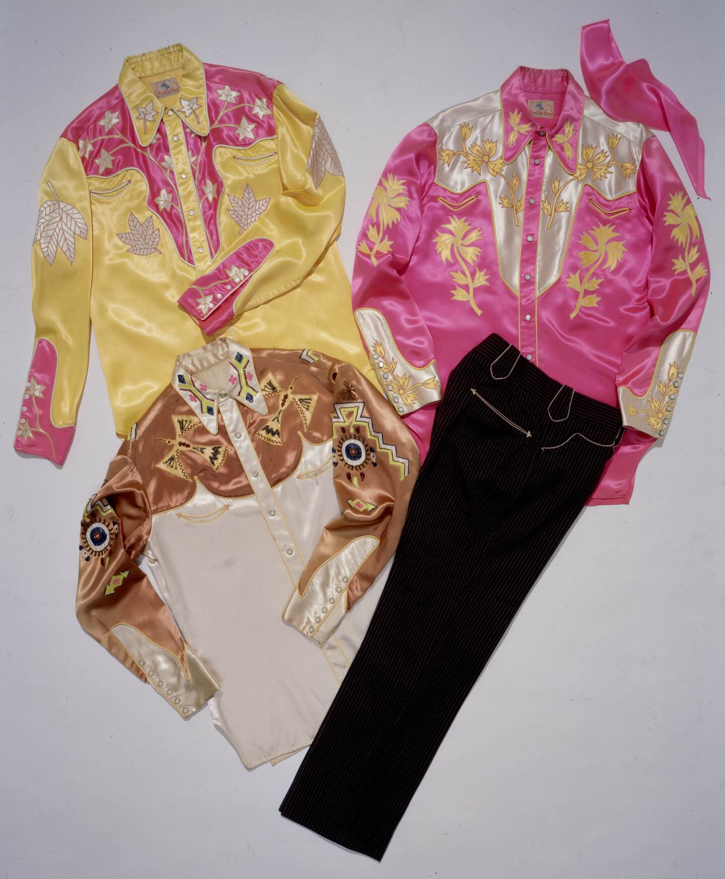 "Gene Autry's idea for ""glow-in-the-dark"" outfits 